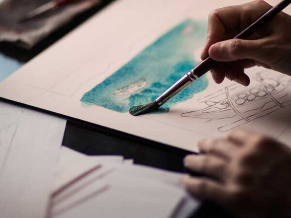 Ragazzo che dipinge